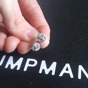 Diamond/silver ear rings